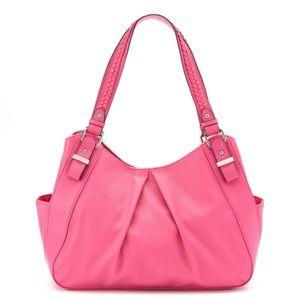 w/TAG Faux Leather Shoulder Shopper Pink Bag